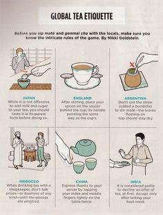 Tea etiquette.