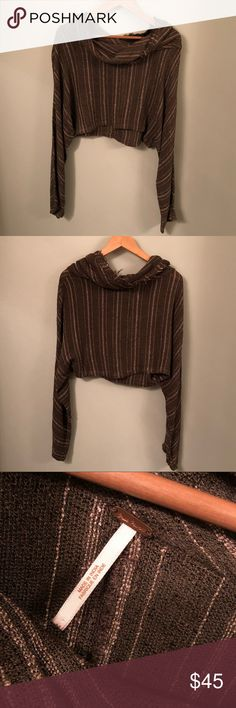 Free People Sweater (cropped) -great condition -wide sleeves -very cute and flattering -cropped  -lightweight sweater material Free People Tops