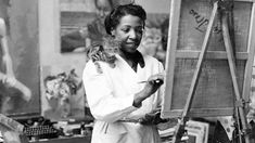 African American Artist, American Artists, Afro, Little Paris, Famous Words, Teaching Jobs, Us History, Black History, Black Artists