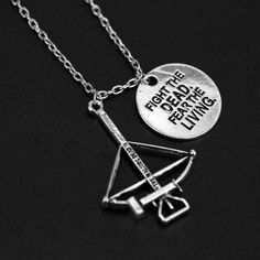 Cheap the walking dead necklace, Buy Quality walking dead necklace directly from China drop necklace Suppliers: Movie Jewelry The Walking Dead Necklace Crossbow Pendant Necklace women fashion accessory wholesale drop shipping Dog Tag Necklace, Arrow Necklace, Pendant Necklace, Reptile Accessories, Jewelry Accessories, Kids Room Wall Decals, Flower Wall Decals, The Walking Dead, Jewelry Necklaces
