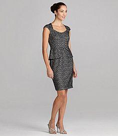 Maggy London CapSleeve Peplum Dress #Dillards