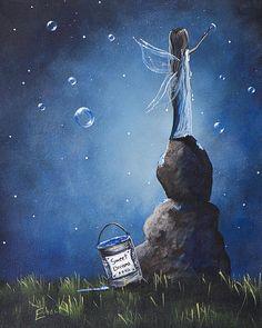 A Fairy's Nighttime Gift by Shawna Erback Greeting Card Fine Art America (card)