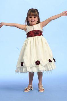 Col ras du Cou Petites Tailles Sans Manches Zip Robe de Cortège Fille