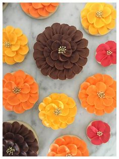Fall Florals - Decorated #cookies - One Dozen