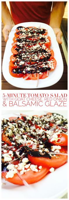 This salad is insanely easy and tastes great. Comes together so quickly but looks really impressive!