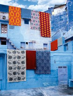 Jaipur in the province of Rajasthan, also known as the Sapphire city. Its buildings are all painted shades of brilliant blues. You will also see brilliant shades of pinks and emeralds. Namaste, India Asia, Jaipur India, Tricia Guild, Blue City, Indian Textiles, Indian Home Decor, Jodhpur, The Province
