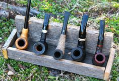 Hand Made Pipe Holder Gift For Dad Fathers by WeatheredByPaxton