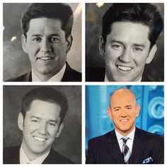 The many faces of Paul Konrad. Weather Man on WGN, morning news.