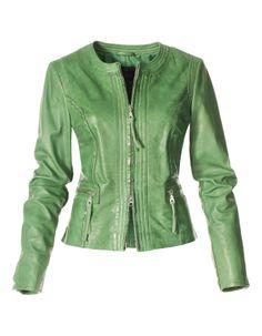 Leren jasje. Lamsnappa - groen - in de online shop van Madeleine.  http://www.madeleine-fashion.nl/leren-jasje-lamsnappa-0a1022177.html?pt=30&cf=8