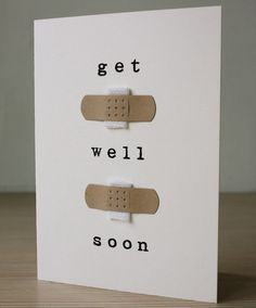 Get Well Soon Card by aruricards on Etsy