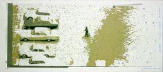 «Les archives de Monsieur X», Oostduinkerke Hiver 67 2004-2005, 61 x 31 cm, collage sur transparents espacé