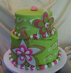 green cake images | Pink and Lime Green Cake | Flickr - Photo Sharing!