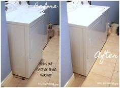 How to eliminate the space behind your dryer and get rid of the hazardous flexible hose with a Dryerbox.