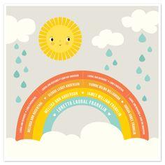 Family Rainbow by Tara Lilly Studio