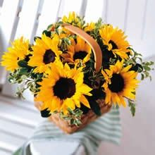 Sunflower Basket Table Centerpieces