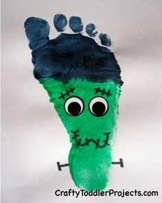 Halloween Craft: Frankenstein Footprint