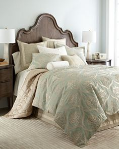 "-5WH3 Jane Wilner Designs  Queen Georgina Duvet Cover, 87"" x 96"""