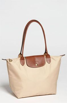 Longchamp 'Le Pliage - Small' Shoulder Bag in Natural | Nordstrom. Please, pleade, please!