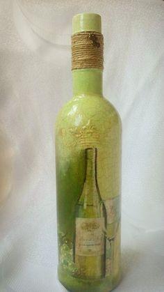 Glass Decorative Bottles Decorated Glass Bottle Shabby Chic Bottle Altered Bottle