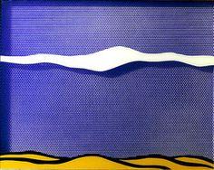 Title: Arctic landscape Artist: Roy Lichtenstein Completion Date: 1964 Roy Lichtenstein Pop Art, Peter Blake, Jasper Johns, Robert Rauschenberg, Andy Warhol, Gerard Richter, Arctic Landscape, Desert Landscape, Industrial Paintings