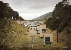 TITOLO:  'Rolling Masterplan'  Jagnefalt Milton  Åndalsnes    Il progetto è giustamente intitolato 'Rolling Masterplan' (vecchi binari industriali) una nuova forma di infrastruttura in grado di sostenere un'intera città di strutture mobili. Questo concetto presenta una miriade di possibilità di riconfigurazione per consentire agli spazi urbani di adattarsi alle diverse esigenze, che cambiano nel tempo.  PERCHé:   Progetto di urbanistica che cerca di adeguare gli spazi per nuovi e diversi…