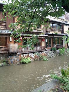 Restaurant by the river in Kyoto