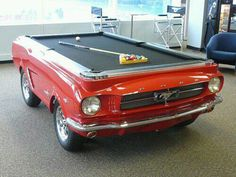 You might be a redneck if this pool table is in your garage.