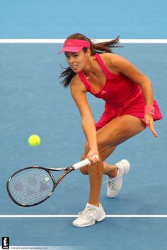Ana Ivanovic, getting low on that volley!!