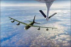 Fill Up for the Cadillac, Aviation Art by John Young Air Force Bases, Us Air Force, Military Jets, Military Aircraft, B52 Bomber, B 52h, Duck Boat Blind, Plane And Pilot, Strategic Air Command