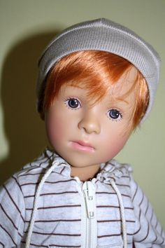 Gotz Sylvia Natterer Flavius Boy Doll 19.5 Inches Vinyl Doll Art: 03 80258 Handcrafted Artist Doll Baldwin, NY 2003 Limited Edition # 114 Brand New Without a Box Long Retired Hard to Find RARE · Hand