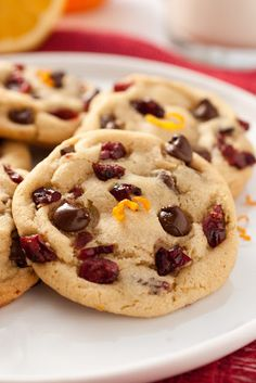 Cooking Classy: Orange Cranberry Chocolate Chip Cookies (Bet this would be good with white chocolate chips, too! Cookie Desserts, Just Desserts, Delicious Desserts, Dessert Recipes, Christmas Desserts, Christmas Baking, Christmas Cookies, Holiday Baking, Christmas Time