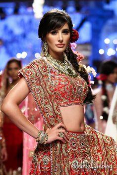 Suneet Varma Spring Couture 2015 Lakme Fashion Week Decorative Arts of India Reliance Jewels Couture 2015, Spring Couture, Bollywood Girls, Bollywood Actress, Most Beautiful Indian Actress, Beautiful Actresses, Bridal Lehenga Choli, Lehenga Blouse, Indian Outfits