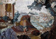 Paisaje con puente ANÓNIMO, 1600 - 1625 Piedras duras, preciosas y semipreciosas, 18,6 x 26,8 cm © Museo Nacional del Prado
