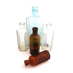 Apothecary Bottle Set Victorian Apothecary by TwoTimeVintage