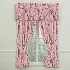 Wildon Home® Realtree Camouflage Rod Pocket Curtain Panels Colour: Pink Pink Camo Bedroom, Camo Rooms, Dream Bedroom, Girls Bedroom, Master Bedroom, Camo Curtains, Rod Pocket Curtains, Brown Curtains, Curtain Panels