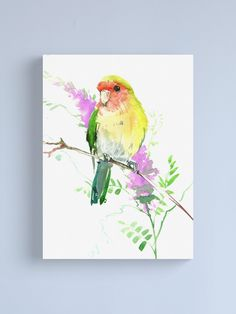 """""""Lovebird"""" Canvas Print by surenart 