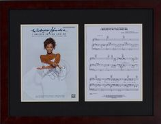 Silent Auction Item Whitney Houston autographed sheet music #fundraising #auction https://www.cfr1.org/fundraising-items/