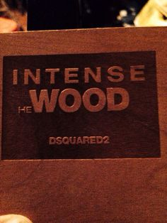 DSQUARED 2   WOOD INTENSE FOR MAN