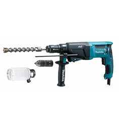 MAKITA HR2611FT combination hammer drill. SDS-plus and quick change drill chuck.
