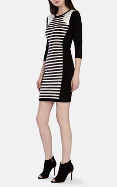 Stripe knitted dress,Karen Millen