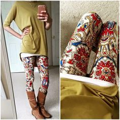 Shop Women's LuLaRoe size S Leggings at a discounted price at Poshmark. Description: ISO these Lularoe OS leggings. Legging Outfits, Fall Winter Outfits, Autumn Winter Fashion, Look 2017, Casual Outfits, Cute Outfits, Anime Outfits, Casual Clothes, Mode Plus