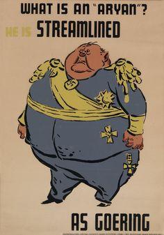 WWII era Russian Poster mocking Goering. Hehehe!! Nazi Fatass!!!!