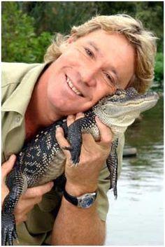 Steve Irwin 1962 - 2006. He's the animal hero.