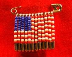 Making A Flag With Beads