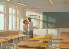 The Art of Krenz Cushart - Daily Art Landscape Concept, Scenery Wallpaper, Animation Background, Anime Life, Anime Scenery, Illustrations And Posters, Animal Illustrations, Cool Artwork, Amazing Art
