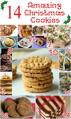 14 Amazing Christmas Cookie Recipes, black and white cookie Cookie Exchange Party, Christmas Cookie Exchange, Christmas Sweets, Christmas Cooking, Christmas Goodies, Christmas Christmas, Cookie Desserts, Holiday Desserts, Holiday Baking