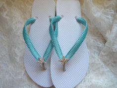 Wedding shoes/ Starfish Beach Wedding Sandals by AdrianaDosSantos