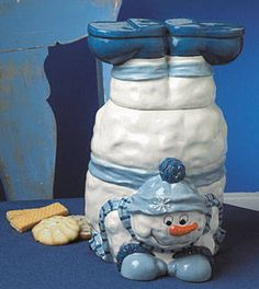 SNOWMAN COOKIE JAR!