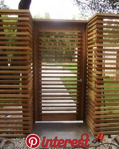 Out of all the cedar fence gate designs out there, this gorgeous, rustic wooden fence is the perfect touch as an entranceway to the garden! Fence gate ideas and design. Backyard Fences, Garden Fencing, Fence Landscaping, Patio Fence, Farm Fence, Deco Spa, Fence Screening, Cedar Fence, Bamboo Fence