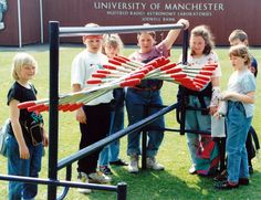'Wave machine' outdoor interactive exhibit designed and produced by Ian Russell for the Jodrell Bank Science Centre back in 1990.